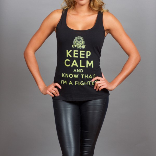 DEBARDEUR FEMME FIGHT AND ROCK – KEEP CALM I'M A FIGHTER – BLACK GOLD 20