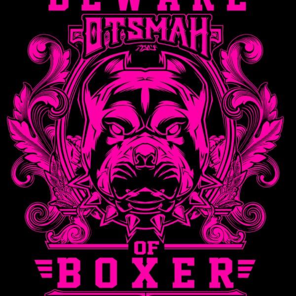 DESIGN T SHIRT BOXE BEWARE OF BOXER