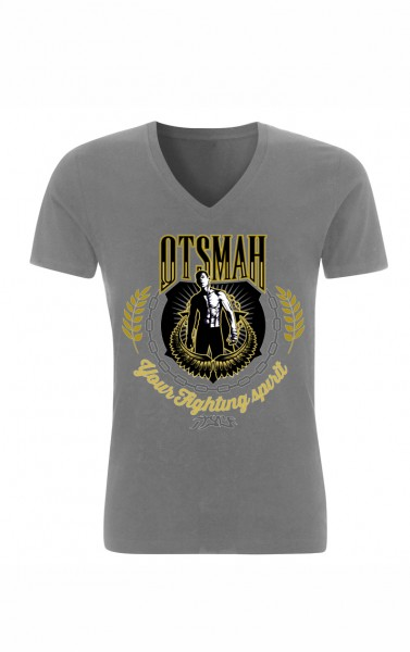 T-SHIRT BOXE AND ROCK - GOLD VICTORY – GRIS
