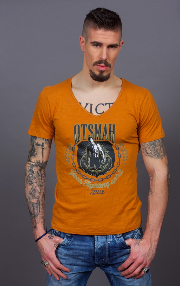 T-SHIRT BOXE AND ROCK – GOLD VICTORY – BROWN