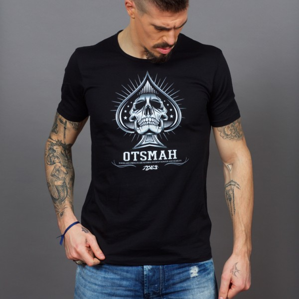 T-SHIRT FIGHT AND ROCK – PIC SKULL H2