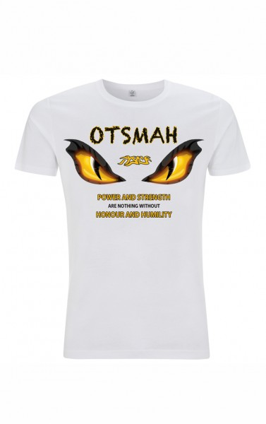 T-SHIRT MUAY AND FIGHT - TIGER'S EYES - BLANC