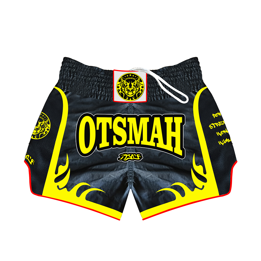 short boxe muay Otsmah black yellow 5001003