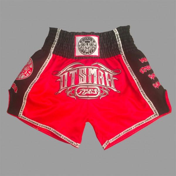 Short Boxe & Muay Black Red