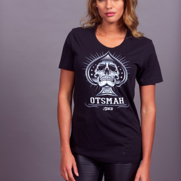 T-SHIRT FEMME FIGHT AND ROCK – PIC SKULL 20