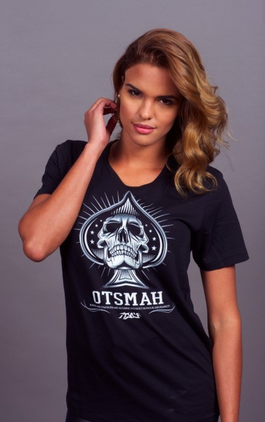 T-SHIRT FEMME FIGHT AND ROCK - PIC SKULL3