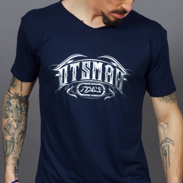 T-SHIRT V MUAY AND ROCK – LABEL – NAVY 2