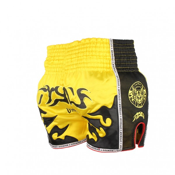 short muay OTSMAH Yellow Black 2