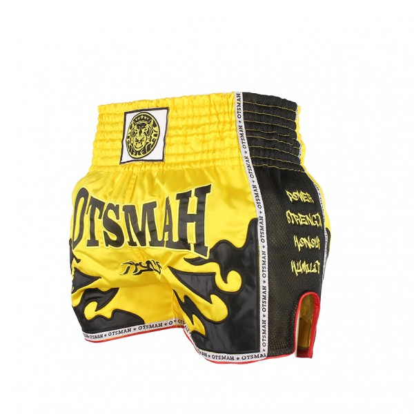 short muay OTSMAH yellow black 4